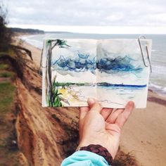 Define Peak — Stunning Travel Journal by Ieva Ozola Small Sketchbook, Sketchbook Drawings, Sketches, Human Memory, Sculpture, Textile Artists, Watercolor Illustration, Traditional Art, Les Oeuvres