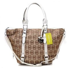 special price : $61.00 - 2012 Michael Kors Classic Tote White with Camel 30901