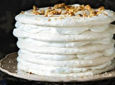 Pavlova, Vanilla Cake, Sweet Tooth, Pie, Cheese, Baking, Desserts, Torte, Tailgate Desserts