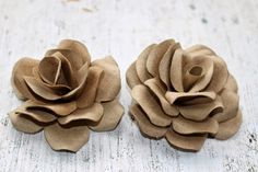 Rose Decorative di Cartoncino - Love DIY