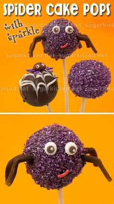 Make easy spider cake pops for Halloween with a little extra sparkle!