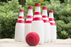 Recycled Bottle Bowling/ Moonfrye DIY/ Kids Craft Activities/ Kids Crafts