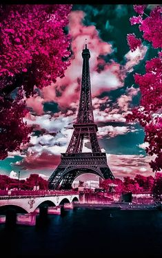 I don't know where I first got this from, but I have always loved Paris. Paris has always been my dream place. I have always wanted to put up a boutique in the streets of Paris. I also took French just to go to Paris. It really is a breath taking view. Torre Eiffel Paris, Paris Eiffel Tower, Eiffel Towers, Paris Love, Pink Paris, Beautiful Paris, Paris Paris, Paris City, Beautiful Flowers