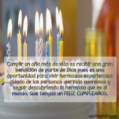 Bday Cards, Happy Birthday Cards, Birthday Greetings, It's Your Birthday, Birthday Wishes, Hbd Quotes, Happy B Day, Birthday Quotes, Spanish Quotes
