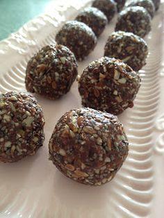 Nut free chocolate protein balls