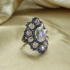 Tél virága ovális gyűrű / Winter Flower oval ring by Melinda
