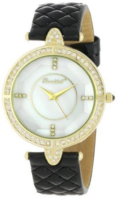 Bombshell Women's BS1025BK Lola Distinguised Black Strap Crystal Case Watch Bombshell. $33.99. Crystal Detail Mother of Pearl Dial. 62 Swarovski Crystal Stone Bezel. Sophisticated Black Quilted Leather Strap. Eye Catching and Unique Cut Crystal Lens. Dazzling Colorful Gift Box. Save 62% Off!