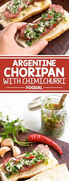 If you are a big fan of hot dogs, then you must try the choripan, the Argentine version of this classic. Made with fragrant chorizo roasted in the oven, sandwiched in a baguette, and served with a generous helping of a flavorful chimichurri sauce, hot dogs don't get much better than this! Are you ready to start cooking? Get the recipe from Foodal today! Fun Easy Recipes, Wrap Recipes, Pork Recipes, Dinner Recipes, Easy Meals, Healthy Recipes, Sausage Recipes, Yummy Recipes, Healthy Food
