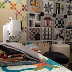 Our fan @anniesmithqs is spending some time with her BERNINA in her sewing space. Love those blocks! #BERNINA #sewing