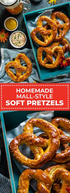 If buttery, mall-style soft pretzels are your ultimate snack, look no further than this recipe. You'll find all the secrets to the perfect golden-brown, butter-brushed, homemade soft pretzels right here! Homemade Soft Pretzels, Pretzels Recipe, Soft Pretzel Recipes, Mall Pretzel Recipe, Bread Recipes, Cooking Recipes, Fast Recipes, Copycat Recipes, Good Food