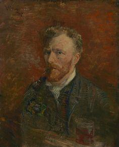 Van Gogh, Self-Portrait with Glass, January 1887. Oil on canvas, 61.1 x 50.2 cm. Van Gogh Museum, Amsterdam.