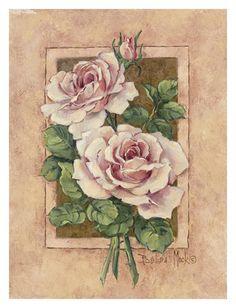 Fresco de rosa Lámina