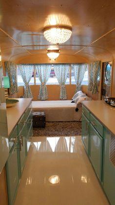 142 Amazing RV Camper Interior Renovation for Happy Camper Trailer Decor, Trailer Interior, Rv Interior, Interior Styling, Interior Lighting, Caravan Decor, Lighting Ideas, Vintage Camper Interior, Vintage Airstream