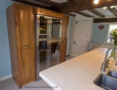 The Handmade Kitchen Company design, manufacture and install bespoke fitted kitchens which are traditionally crafted by cabinetmakers Shaker Style Kitchens, Shaker Kitchen, Solid Wood Kitchens, Handmade Kitchens, Bespoke Kitchens, Work Surface, Cabinet Makers, Kitchen Styling, Rustic Wood