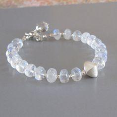 Rainbow Moonstone Spectrolite Gemstone Sterling Silver by DJStrang, $72.00