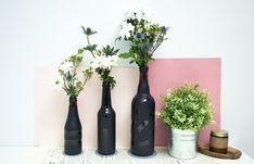 Idée récup' : Vases en bouteilles de bière ;) Moukita www.moukita.com