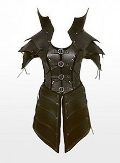 Real leather  medieval re-enactment theatrical celtic Armor LARP SCA viking picclick.com