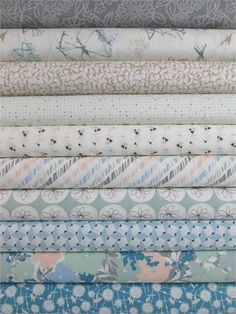 Sharon Holland for Art Gallery, Gossamer, Serenity in FAT QUARTERS 10 Total