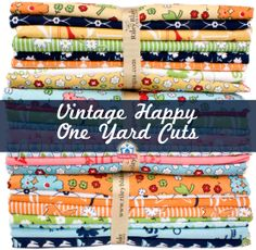 Vintage Happy One Yard Cuts, perfect way to stuff your stash with vintage prints! by Lori Holt of Bee in my Bonnet #vintagehappy #loriholt #rileyblakedesigns #quiltingcotton