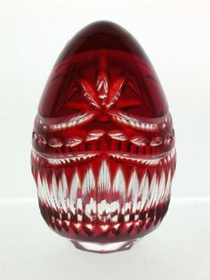 Crystal Egg, handmade of 24% fine lead crystal glass. Genuine cased, colored crystal. Fine homeaccent, great gift. - Paulette Egg