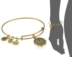 """Alex and Ani"" Initial Bracelet - Great for Valentine's Day"