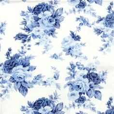 4 x Single Luxury Paper Napkins for Decoupage and Craft Antoinette Blue