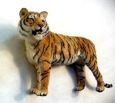 Tiger miniature by Linda Fisher