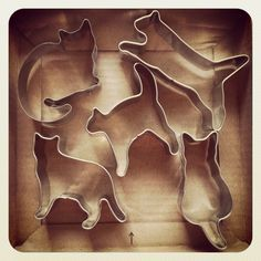 cat cookie cutters ★ More on #cats - Get Ozzi Cat Magazine here >> http://OzziCat.com.au ★