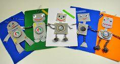 Ines Felix - Kreatives zum Nachmachen: Roboter-Geburtstags-Einladungen