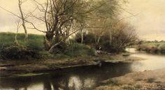 Feu de campement au bord dune riviere de Emilio Sanchez-Perrier (1855-1907, Spain)