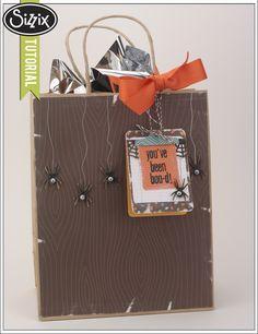 Sizzix Die Cutting Tutorial | Boo Bag by Tiffany Johnson