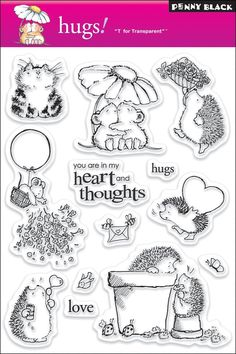 Amazon.com: Penny Black Clear Stamp Set, Hugs: Arts, Crafts & Sewing