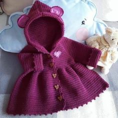 Baby Outfits Christmas Jackets 20 New Ideas Crochet Baby Poncho, Crochet Baby Sweaters, Crochet Coat, Baby Girl Crochet, Crochet Baby Clothes, Crochet Outfits For Babies, Baby Sweater Patterns, Baby Knitting Patterns, Baby Patterns