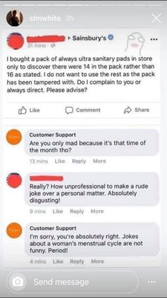 These days, people are doing anything to stay sane, but one guy has absolutely killed it and on the boredom contest hands down. How you may ask? By changing his name to 'customer support' on social media, going onto actual complaints on companies' Facebook and Twitter pages, and replying to the complaints as 'Customer Support'. #customersupport #lol #funny #humor #brilliant Stupid Funny, Funny Cats, Sainsburys, Customer Support, Funny Stories, Funny Memes, Lol, Social Media, Humor
