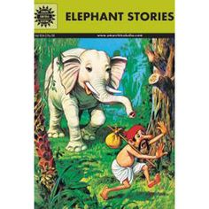 Elephant Stories — Of the three Jataka tales here, the first tells of an elephant who helped a lost traveler in a forest find his way to the city and even gave him his tusks to be sold for money. In the second the kind elephant protects a young quail. The elephant in the third story helps wood-workers by lifting and carrying logs.