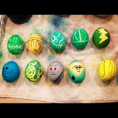 My sister and I's Harry potter Easter egg creations. Can you figure out what they all are? We may have had a little too much fun :)