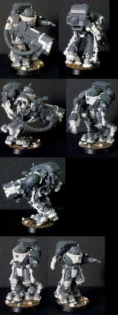 Iron Hands Space Marine Devastator with Heavy Plasma Gun