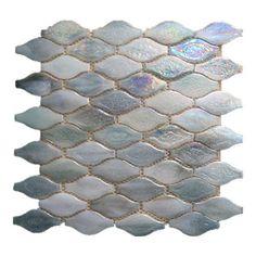 Gl Stone Wavy Shaped Mosaic Tile White Pearl Sample The