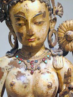 The Buddhist goddess Sitatara (White Tara), Nepal century Cote Cote Ilsley Chinese Buddhism, Tibetan Buddhism, Buddhist Art, Statues, Asian Sculptures, Mother Goddess, 14th Century, Gods And Goddesses, Ancient Art