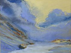 "Fabrice TIXIER ""Le laquet"" pastel 29 x 39 cm SBG"