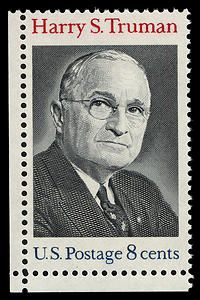 The 8-cent Harry S. Truman postage stamp was first placed on sale at Independence, Missouri, on May 8, 1973.