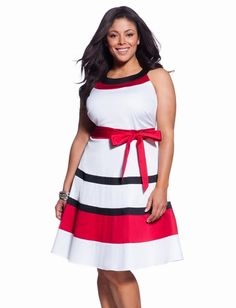 Striped Tank Dress - Women's Dresses & Plus Size Dresses - eloquii by The Limited