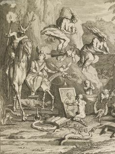 deathandmysticism:  Claude Gillot, Detail of Witches' Sabbath, late 17th century or early 18th century