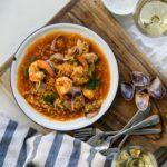 Receta de garbanzos con langostinos - Solo Recetas, el blog de las recetas gratis, recetas de cocina, recetas de la abuela y recetas de chef