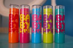 Baby Lips is the best lip balm! Baby blue and Lime green are my favorite. They have no color tent.