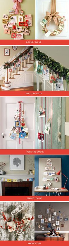 Holiday Card Display Ideas, from all over