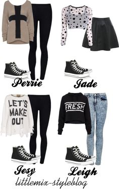 """*REQUESTED* LM Inspired ft. Black High Top Converse"" by little-mix-fashion ❤ liked on Polyvore"