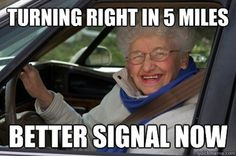 long turn signal people