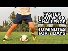 (74) How to improve your footwork in soccer | 10 Soccer drills for faster soccer footwork - YouTube #soccerexercises