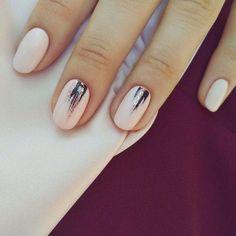 What manicure for what kind of nails? - My Nails Minimalist Nails, Autumn Nails, Spring Nails, Get Nails, Hair And Nails, Nail Polish, Fall Nail Designs, Nail Decorations, Nails Inspiration